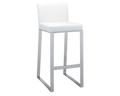 ATHENA BAR STOOL - WHITE LEATHER for $650.00