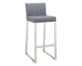 ATHENA BARSTOOL - GREY LEATHER for $650.00
