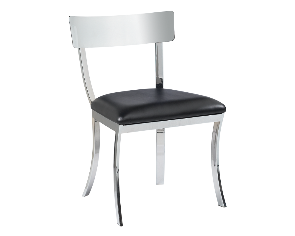 Vinny Dining Chair Black Leather Price Shown Per 2 Piece