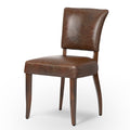JIMMY LEATHER DINING CHAIR-BIKER TAN for $650.00