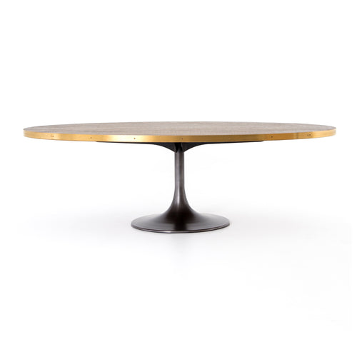 "DURAN OVAL DINING TABLE 98"" for $3250.00"