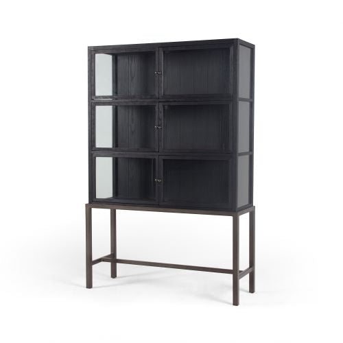 CELIA CURIO CABINET- DRIFTED BLACK for $2650.00