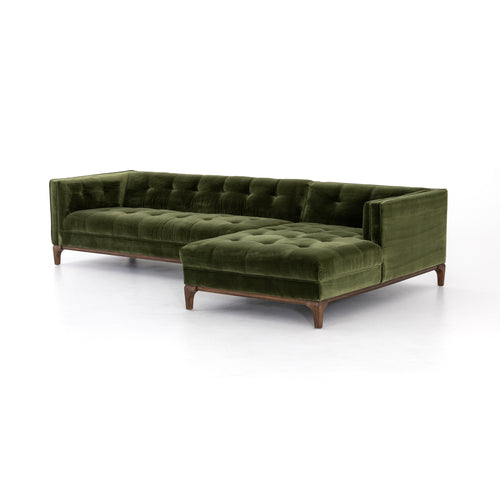 ANTON 2-PIECE SECTIONAL-SAPPHIRE OLIVE for $2950.00