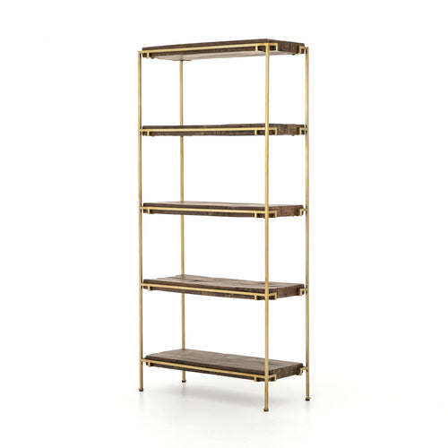 OLYA BOOKCASE - AGED BRASS for $1890.00
