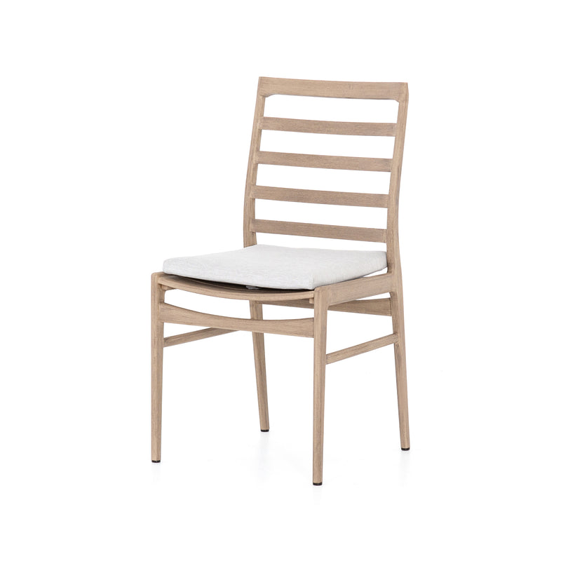 LINEAR BROWN TEAK OUTDOOR DINING CHAIR for $585.00