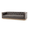 STUART SOFA-DESTROYED BLACK for $3125.00
