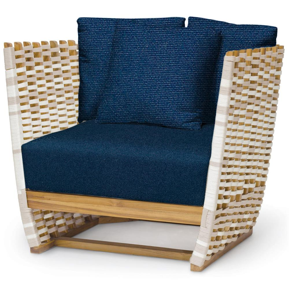 Incredible San Marino Modern Classic Navy Rope Wrapped Outdoor Lounge Chair Bright Modern Furniture Ocoug Best Dining Table And Chair Ideas Images Ocougorg