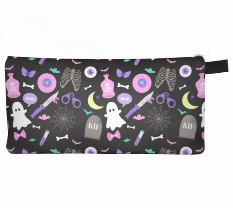 Black Creepy Party Cosmetic Bag