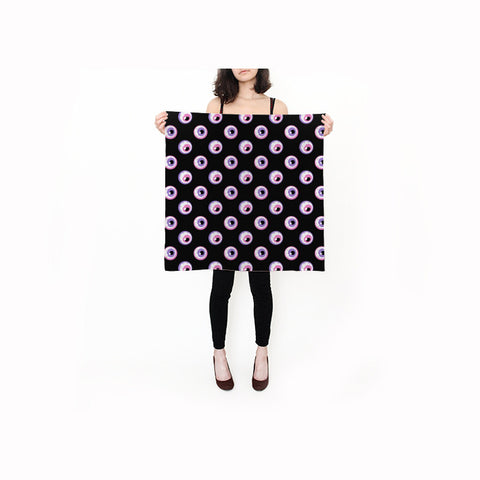 Eyeball Square Silk Scarf
