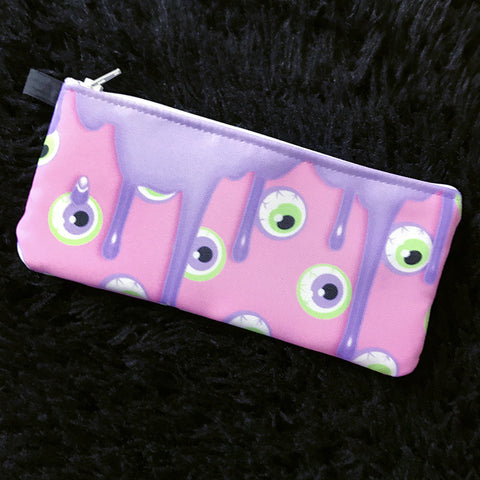 Pink Drippy Eye Cosmetic Bag