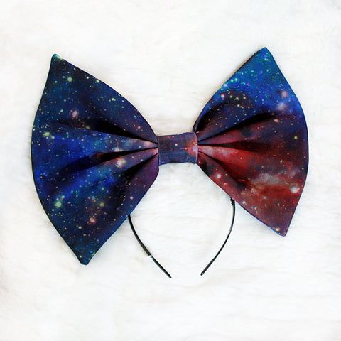 HUGE Galaxy Hair Bow