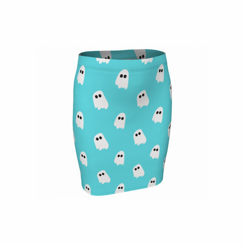 Marshmallow Ghosties Bodycon Skirt