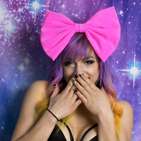 HUGE Neon Pink Hair Bow