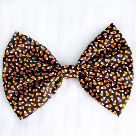 HUGE Candy Corn Hair Bow