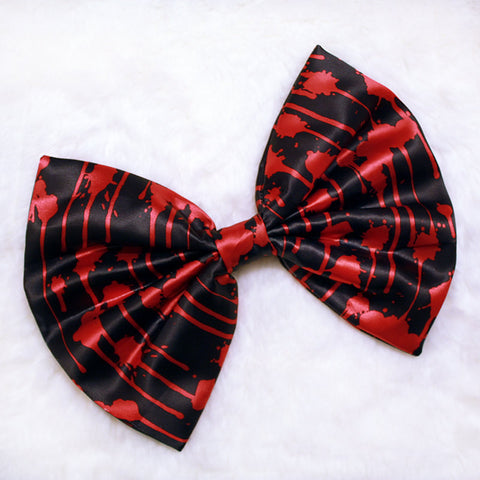 HUGE Blood Splatter Hair Bow