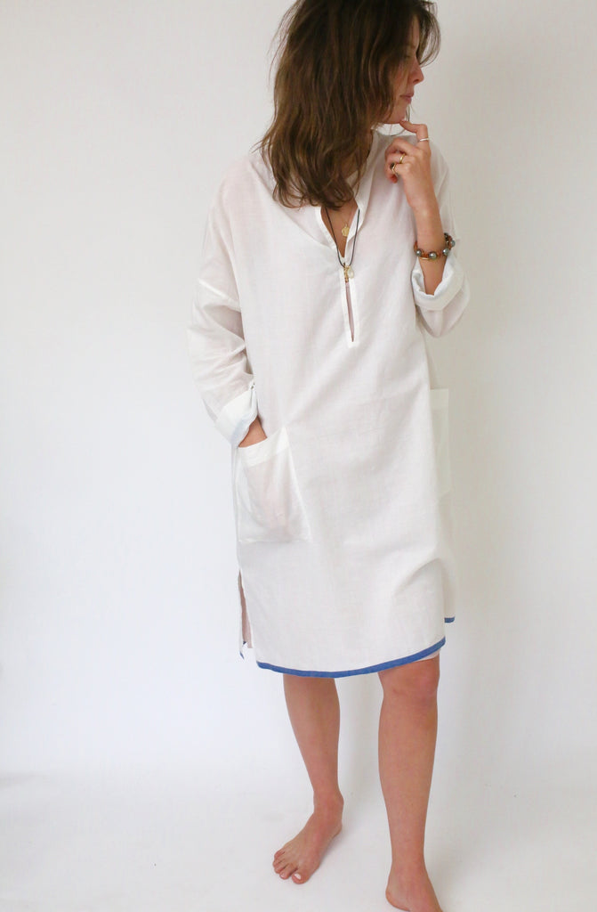 Cotton Khadi Shirt Dress