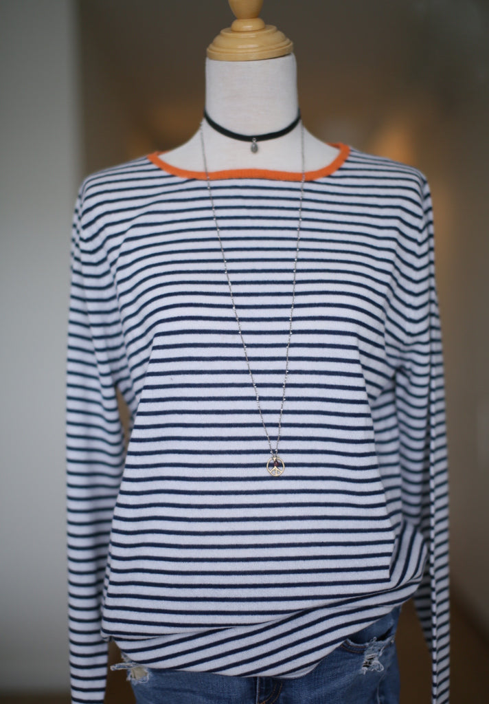 Knitted Stripe Crew