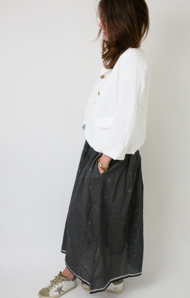 Cotton Khadi Jamdani Skirt