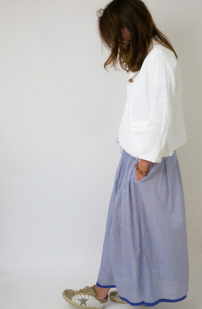 Cotton Khadi Stripe Skirt