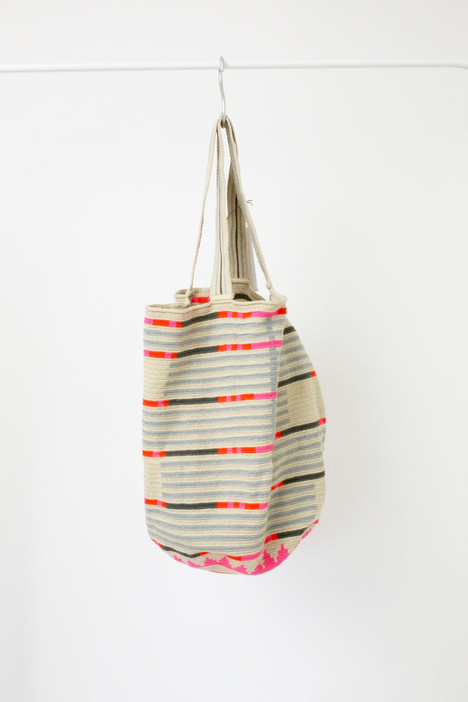 Guanabana Beach Wayuu Bag PINK ORANGE