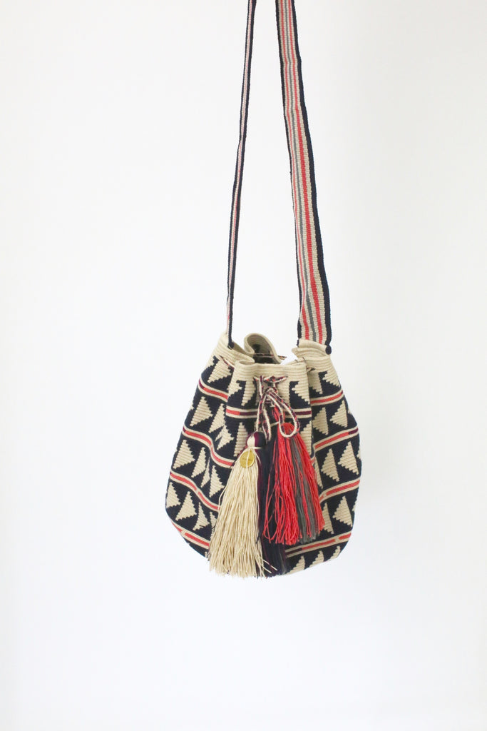 Guanabana Big Wayuu Bag NAVY PINK