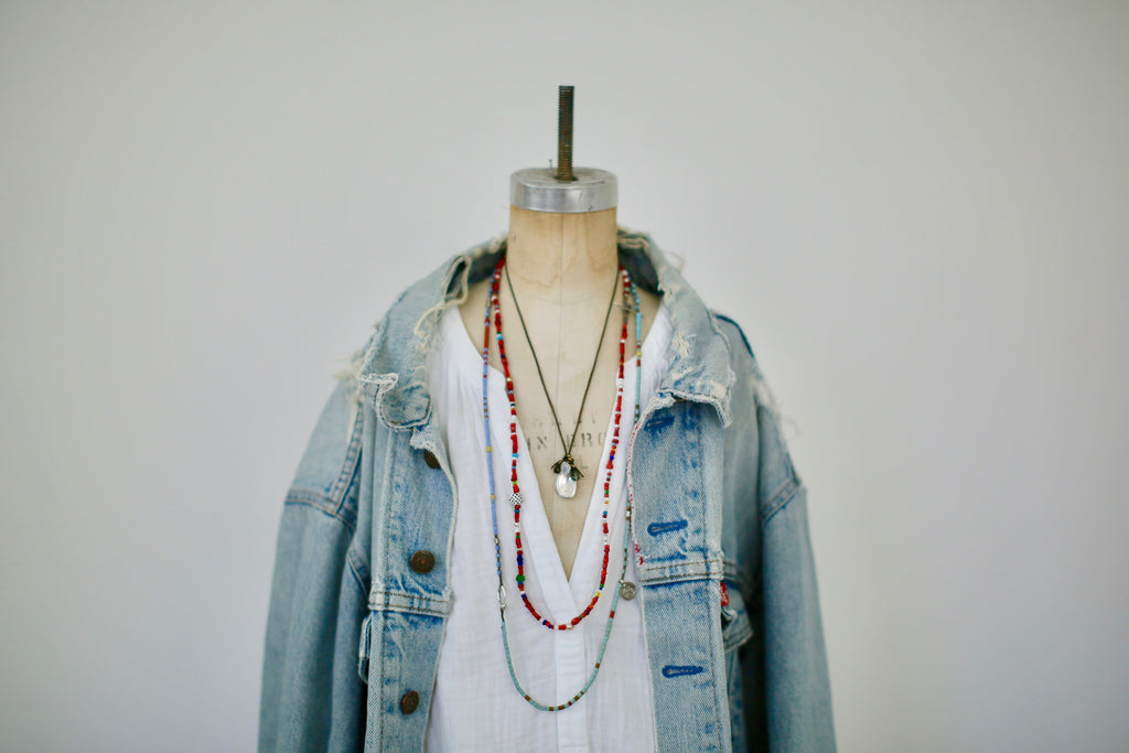 Vintage Distressed Denim Jacket
