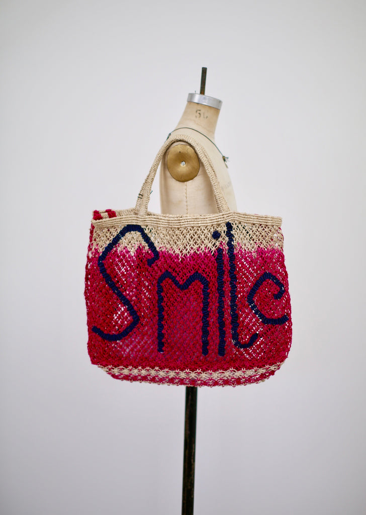 Dip Dye Smile Jute Bag