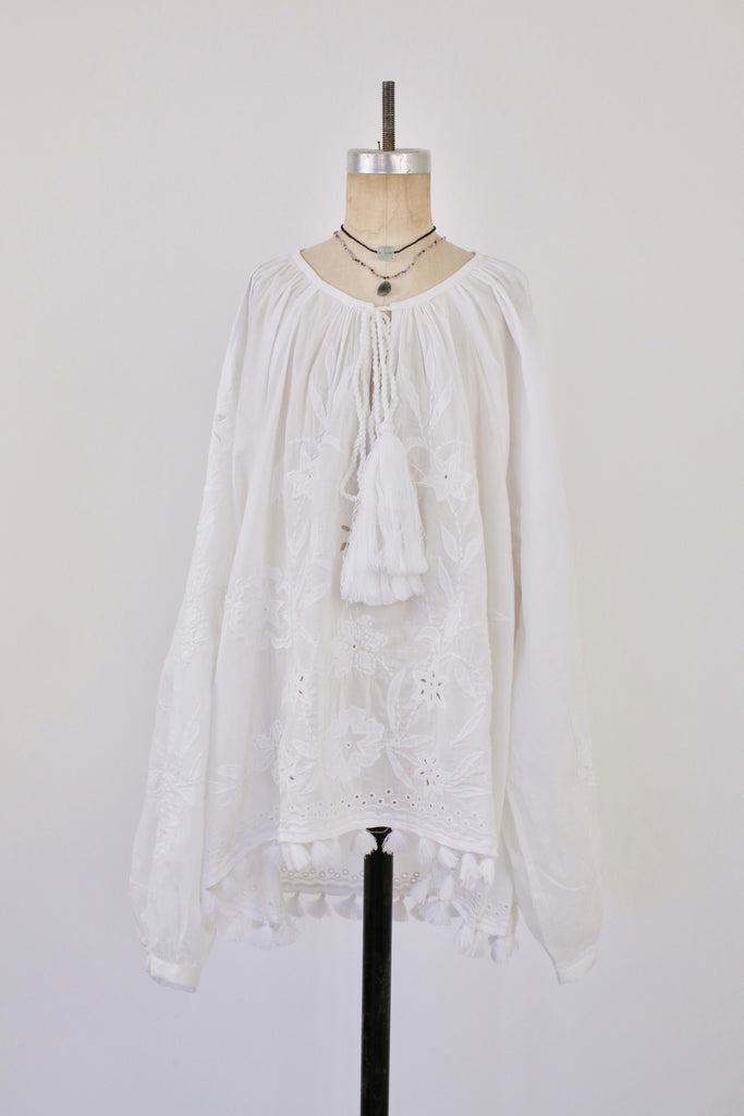 Swing Top with Tassels and Embroidery
