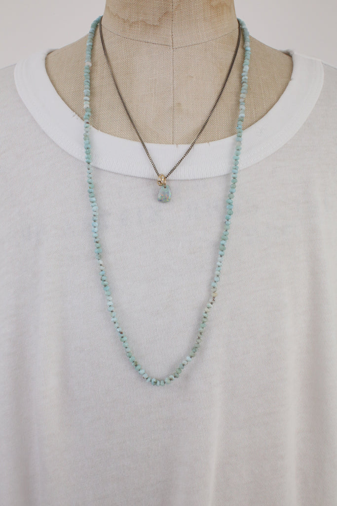 Pictured: Layered with another Carma & Co hand made necklace