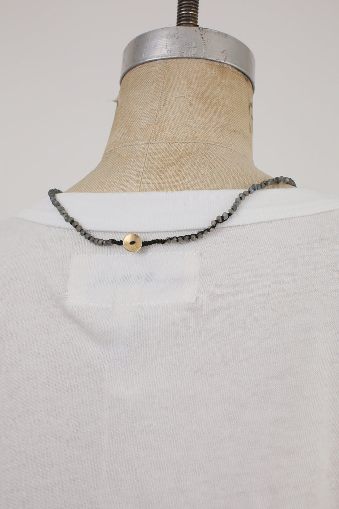 Knotted Labradorite Necklace