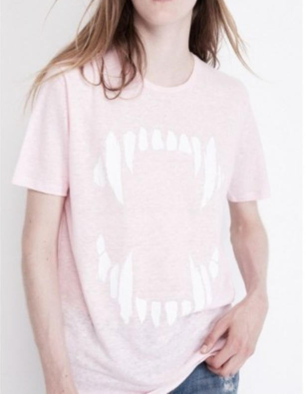 Pink Fangs t shirt