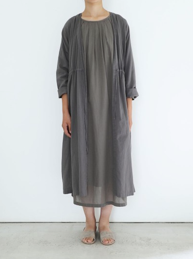 Robe With Drawstring Waist