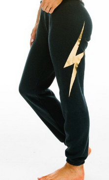 bolt metalic gold sweatpants