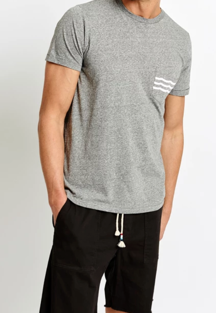 waves pocket t shirt