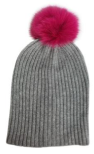 Hat Attack Pom Hat with Real Fur