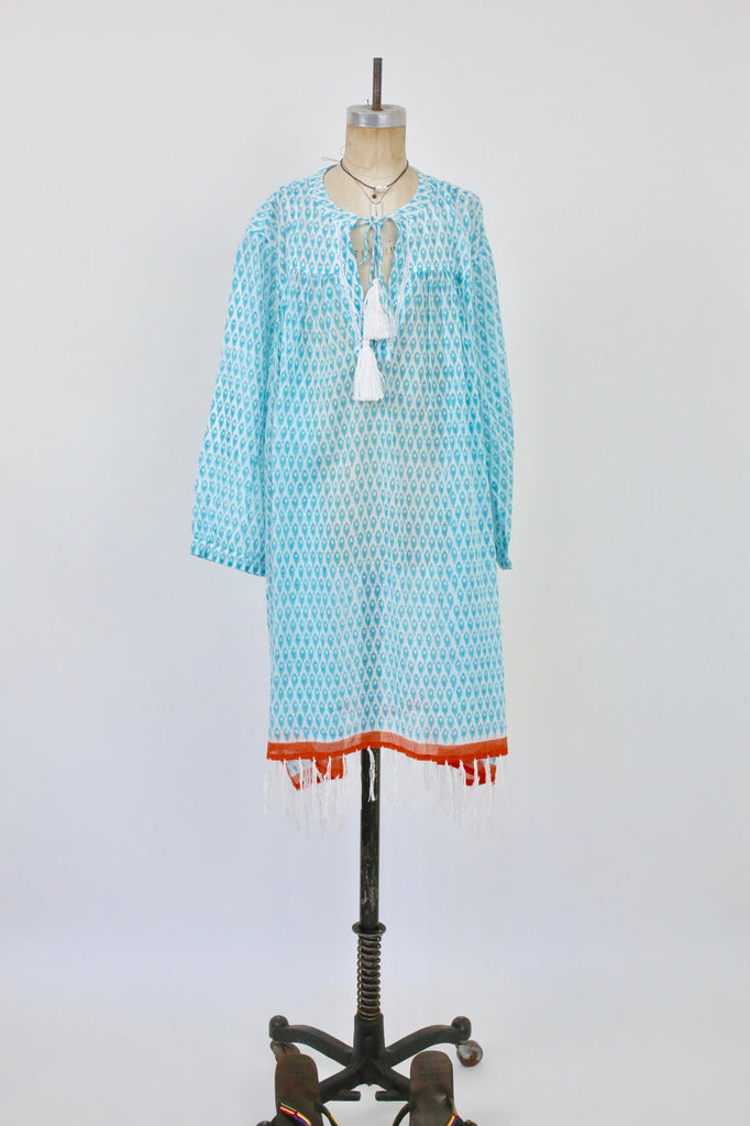 Serafina Tunic Embroidered With Fringe Petite Poisson