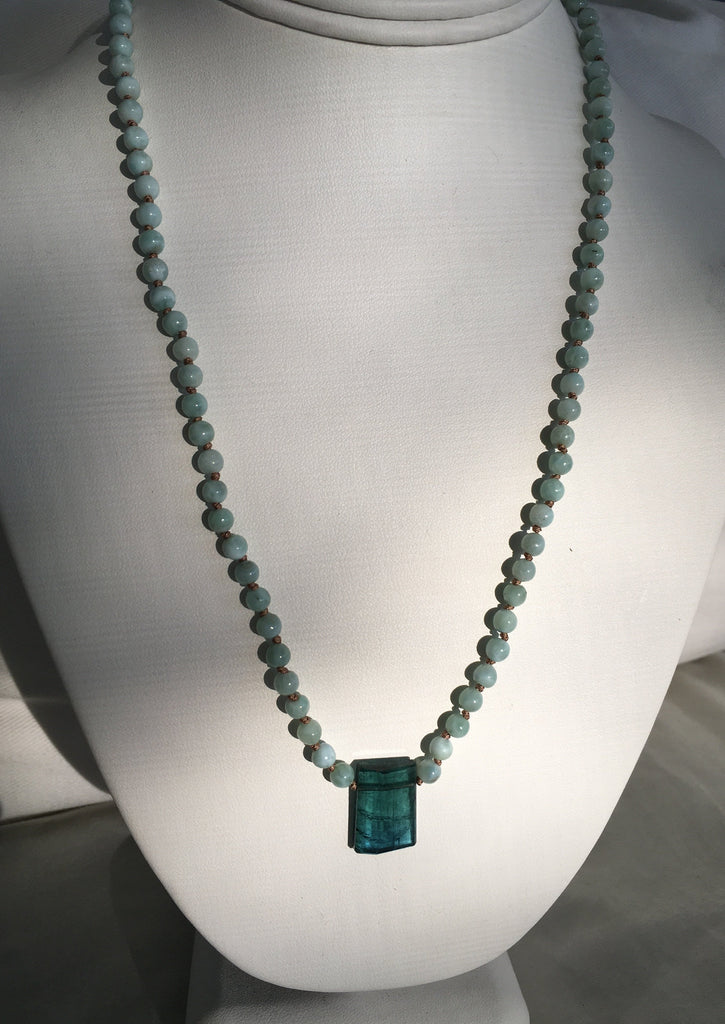 Larimar Tourmaline Necklace/Bracelet
