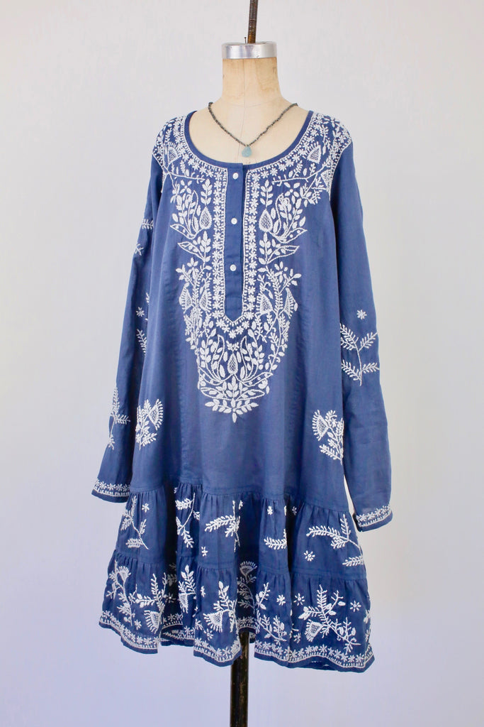 Indigo Classic Long Sleeve Beach Dress