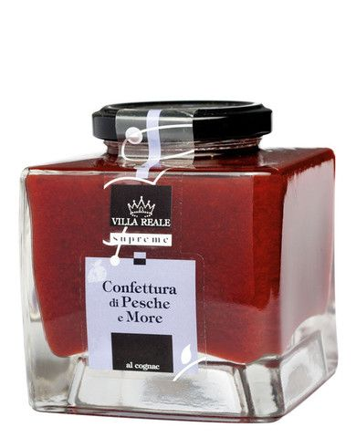 Villa Reale Supreme -  Peach & Blackberry Jam with Cognac 340g