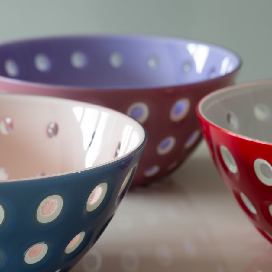 Guzzini Bowl Le Murrine Blue / Pink