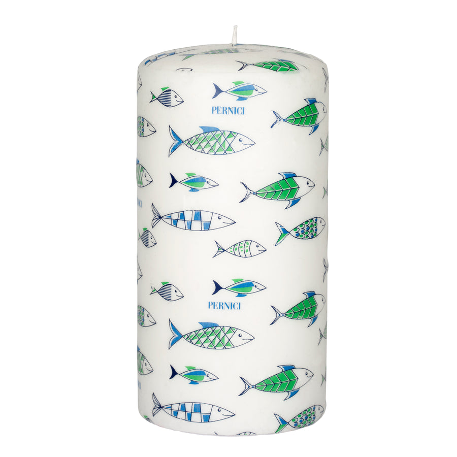 Pernici Candle - Under the Sea Green/Light Blue/Blue 20 x 10 cm