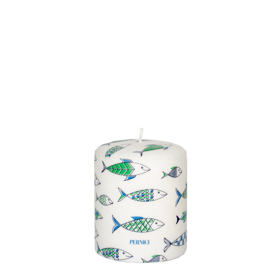 Pernici Candle - Under the Sea Green/Light Blue/Blue 10 x 8 cm