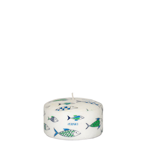 Pernici Candle - Under the Sea Green/Light Blue/Blue 6 x 10 cm