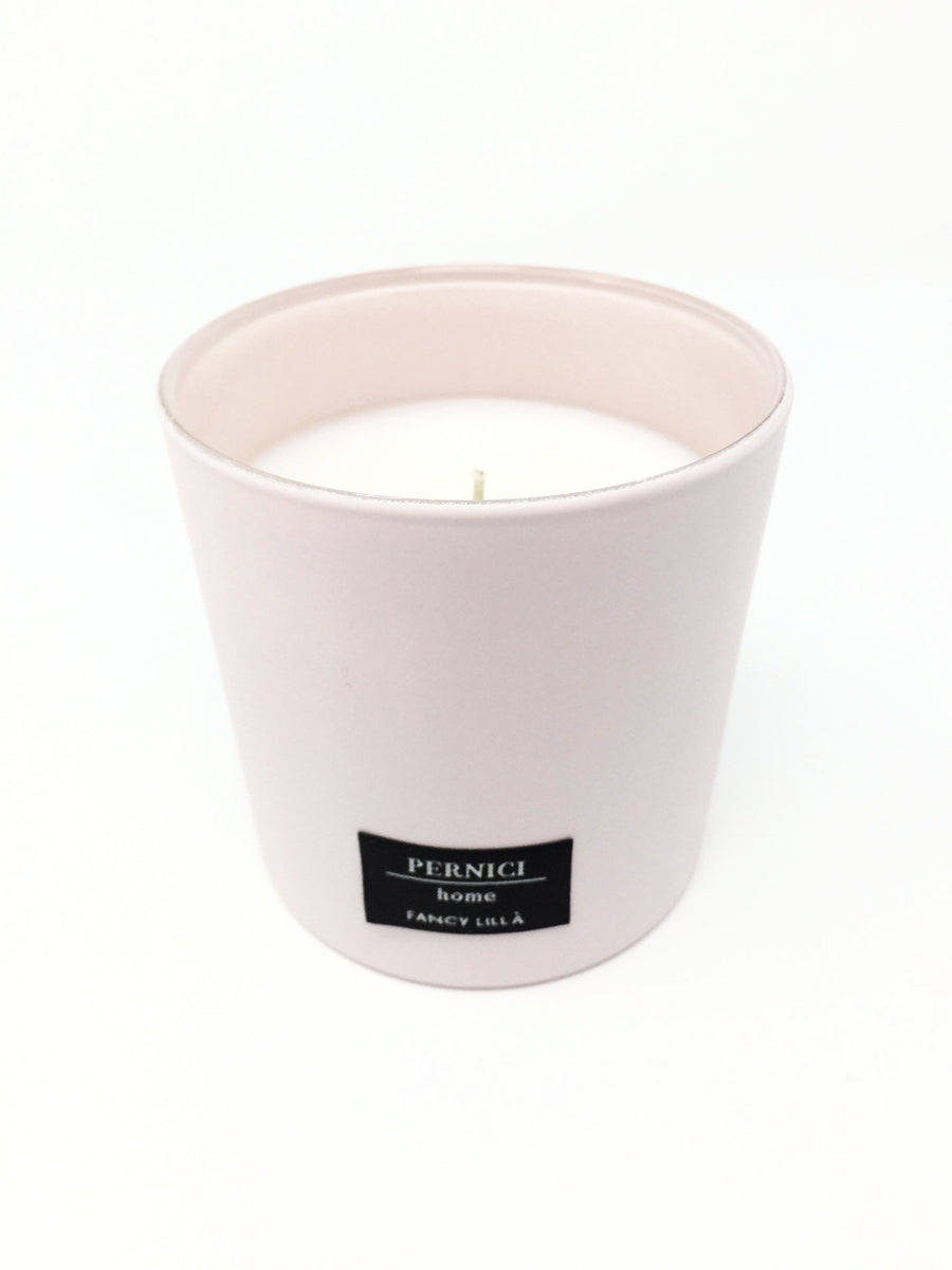 Italian hand made Pernici candle fancy lilla PINK