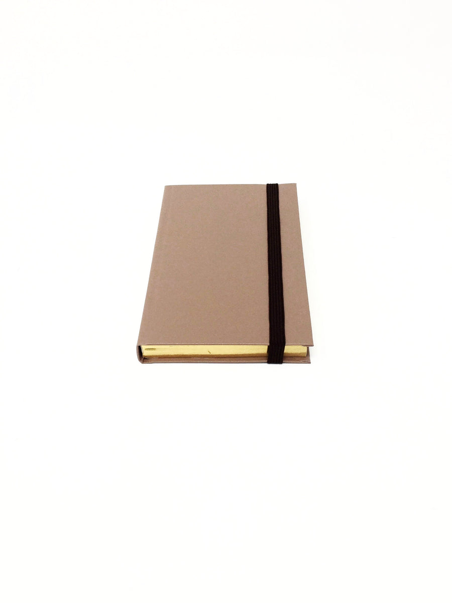 Italian small nut brown lined notebook