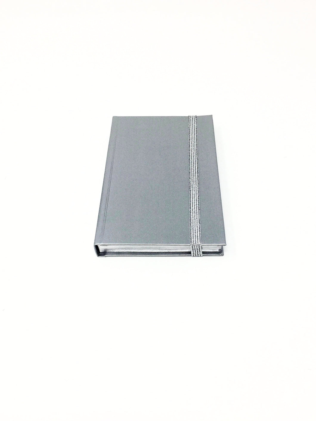 Italian small silver lined notebook