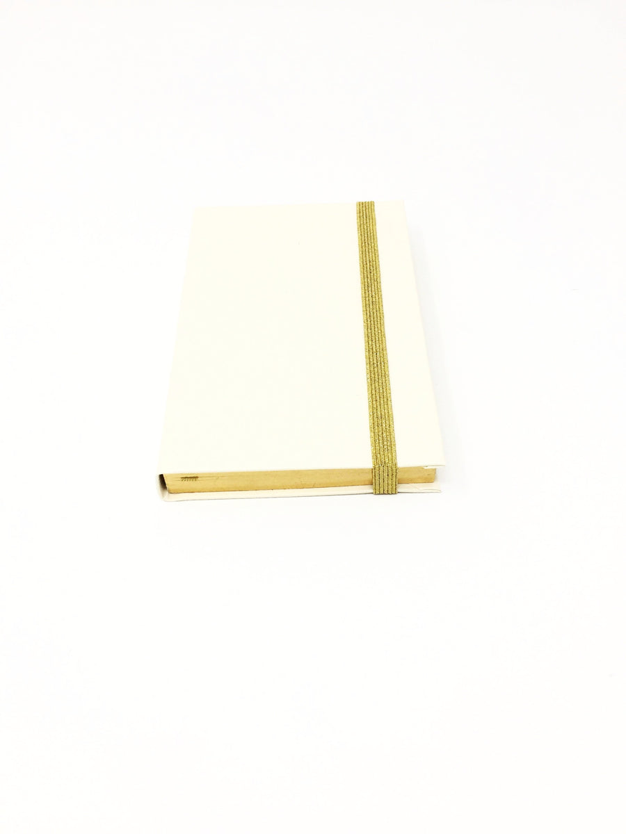 Italian small ivory lined notebook