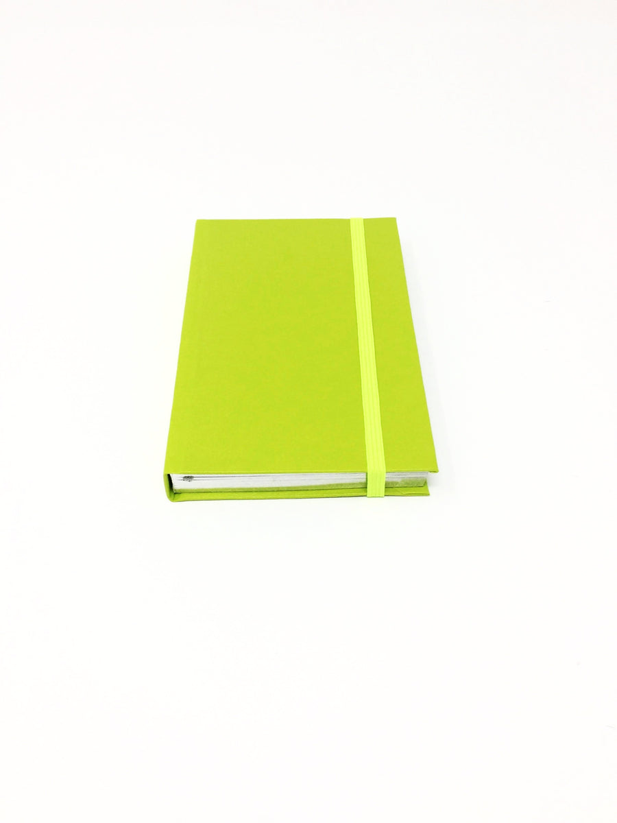 Italian small green lined notebook