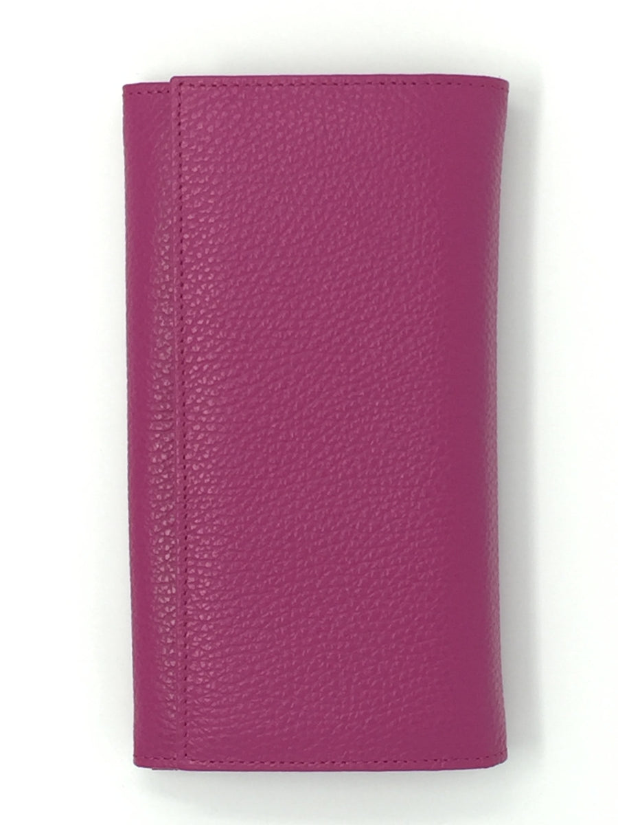 Giemme Box - handmade leather purse - fuschia pink
