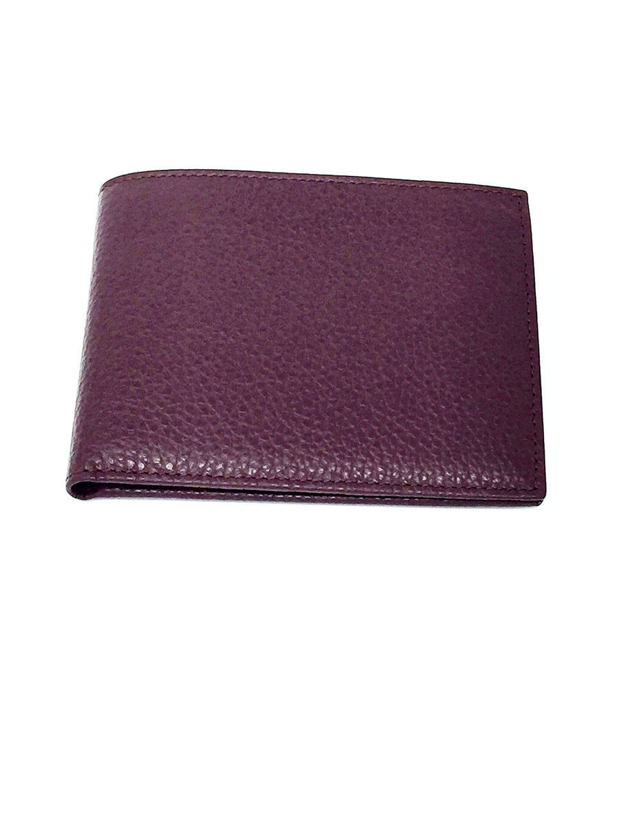 mens burgundy  leather italian wallet